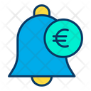 Euro Notification Bell Notification Icon