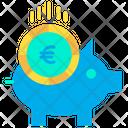 Euro Piggy Euro Money Icon