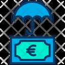 Euro Insurance Money Icon