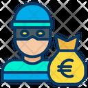Euro Money Money Bag Icon