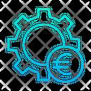 Euro Setting Wheel Money Management Money Settings Icon