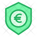 Euro Shield Secure Money Icon