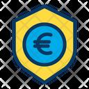 Euro Shield Secure Money Icon