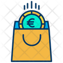 Euro Shopping Bag Icon