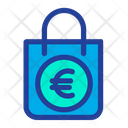 Shopping Bag Euro Sign Hand Bag Icon