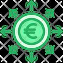 Euro Spending Invest Icon