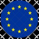 Euro Flag Stars Icon