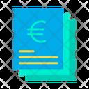 Euro statement Icon