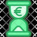 Hourglass Euro Time Icon