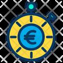 Euro Time Budget Icon