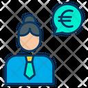 Euro Woman Conversation Woman Businesswoman Icon