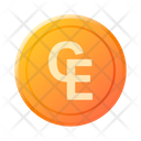 European Currency Unit Coin Money Icon