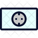 European Power Outlet Icon