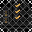 Evaluation Checklist Mark Icon