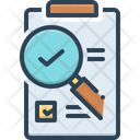 Evaluation Research Magnifying Glass Icon