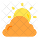 Evening Cloudy Sun Icon