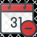 Event Calendar Remove Icon
