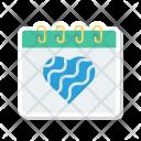 Event Calendar Heart Icon