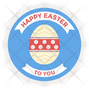 Event Badge Vector Happy Easter Badge Easter Emblem Icon