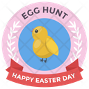 Event Badge Design Happy Easter Badge Easter Emblem Icon