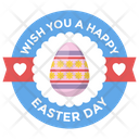 Event Badge Design Easter Emblem Easter Logo Icon
