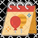 Calendars Birthday Party Icon