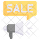 Online Shopping Event Sale Promotion Megaphone Icon