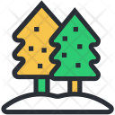 Evergreen Trees Fir Icon