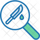Evidence Knife Search Icon