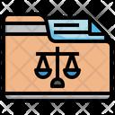 Law Folder Justice Folder Law Documents Icon