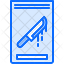 Evidence Crime Knife Icon