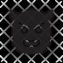 Evil Halloween Scary Icon