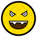 Evil Grin Emotion Icon