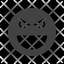 Evil Emoji Face Icon