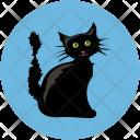 Evil Cat Black Icon