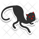 Evil Cat Black Cat Scary Icon