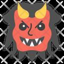 Evil Face Emoji Emoticon Icon