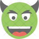 Evil Grin Smiley Icon