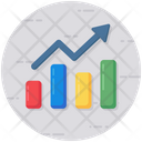 Growth Chart Bar Chart Data Analytics Icon