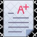 Exam Grade Result Icon