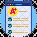 Education Exam Results Grades Icon