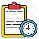 Study Time Study Planner Test Timetable Icon
