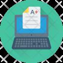 Exams Grades Laptop Icon