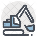 Excavator Heavy Vehicle Icon