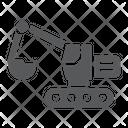 Excavator Transport Machine Icon