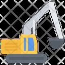Excavator Car Building Icon