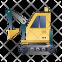 Excavator Construction Vehicle Heavy Vehicle Icon