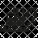 Excavator Bulldozer Machinery Icon