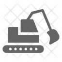 Excavator Bulldozer Construction Icon