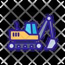 Excavator Construction Technology Icon